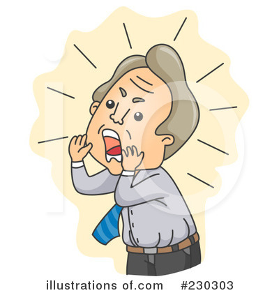 Yell clipart. Yelling illustration by bnp