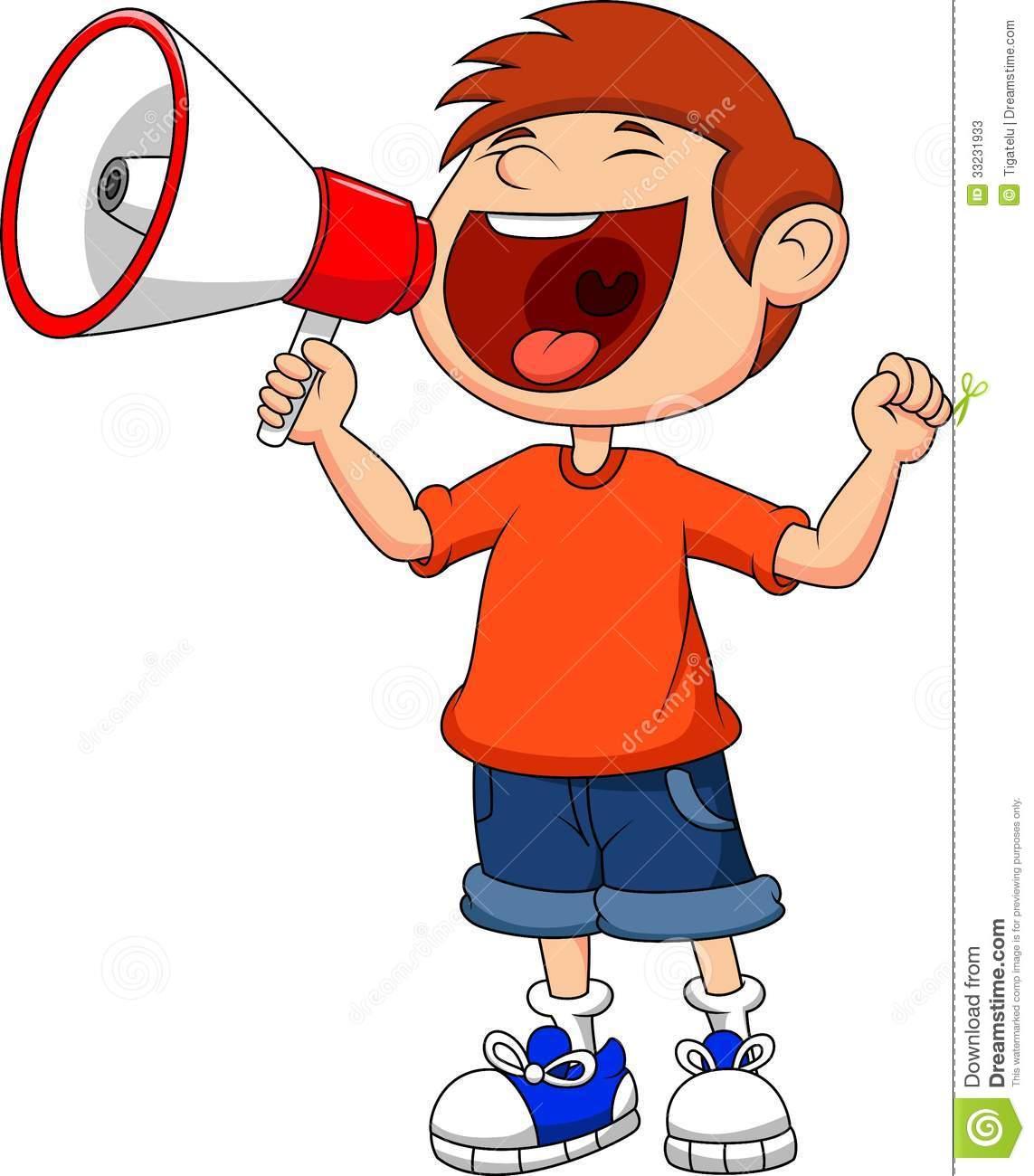 Yelling clipart. In megaphone image album
