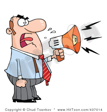Yelling clipart. Free image album on