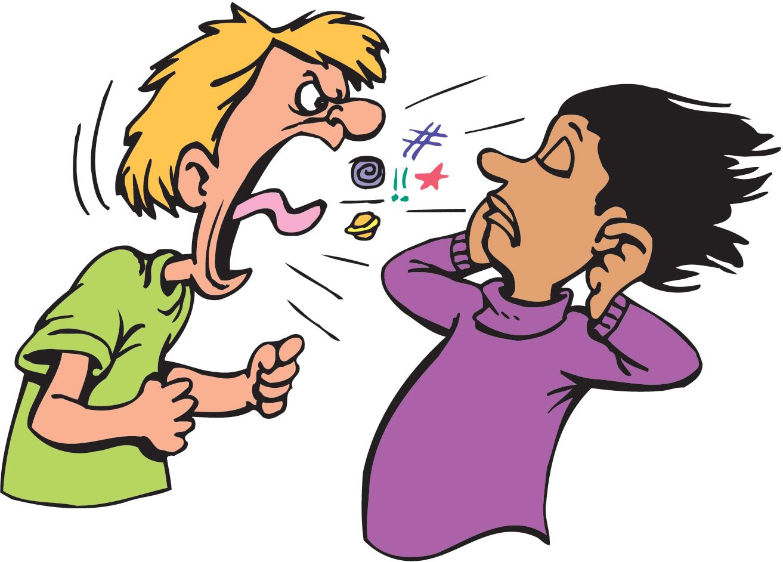 Yelling clipart argument. No clip art argue
