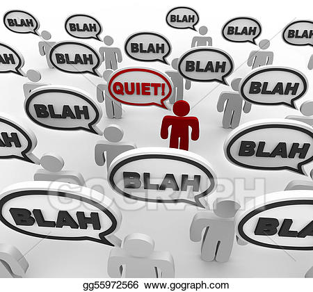 Yelling clipart bad communication. Stock illustration quiet