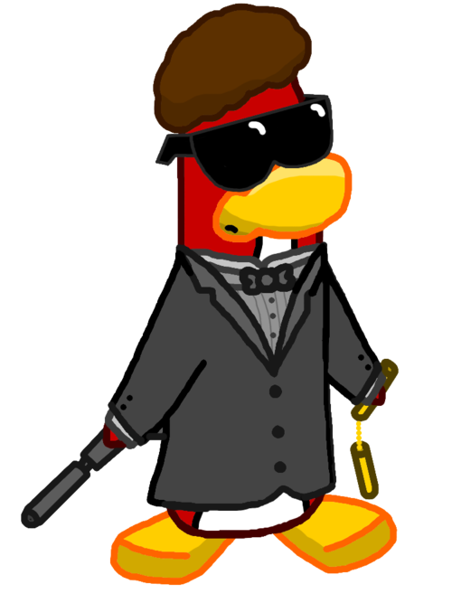 Frosian war club penguin. Yelling clipart belligerent