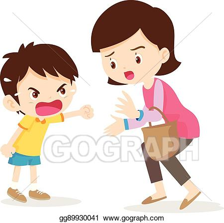 Yelling clipart boy shout. Vector illustration angry shouting