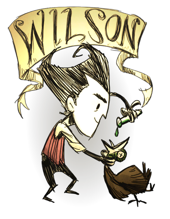 Wilson don t starve. Yelling clipart come one come all