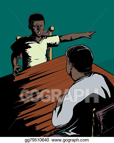 Stock illustration disrespectful child. Yelling clipart disrespect