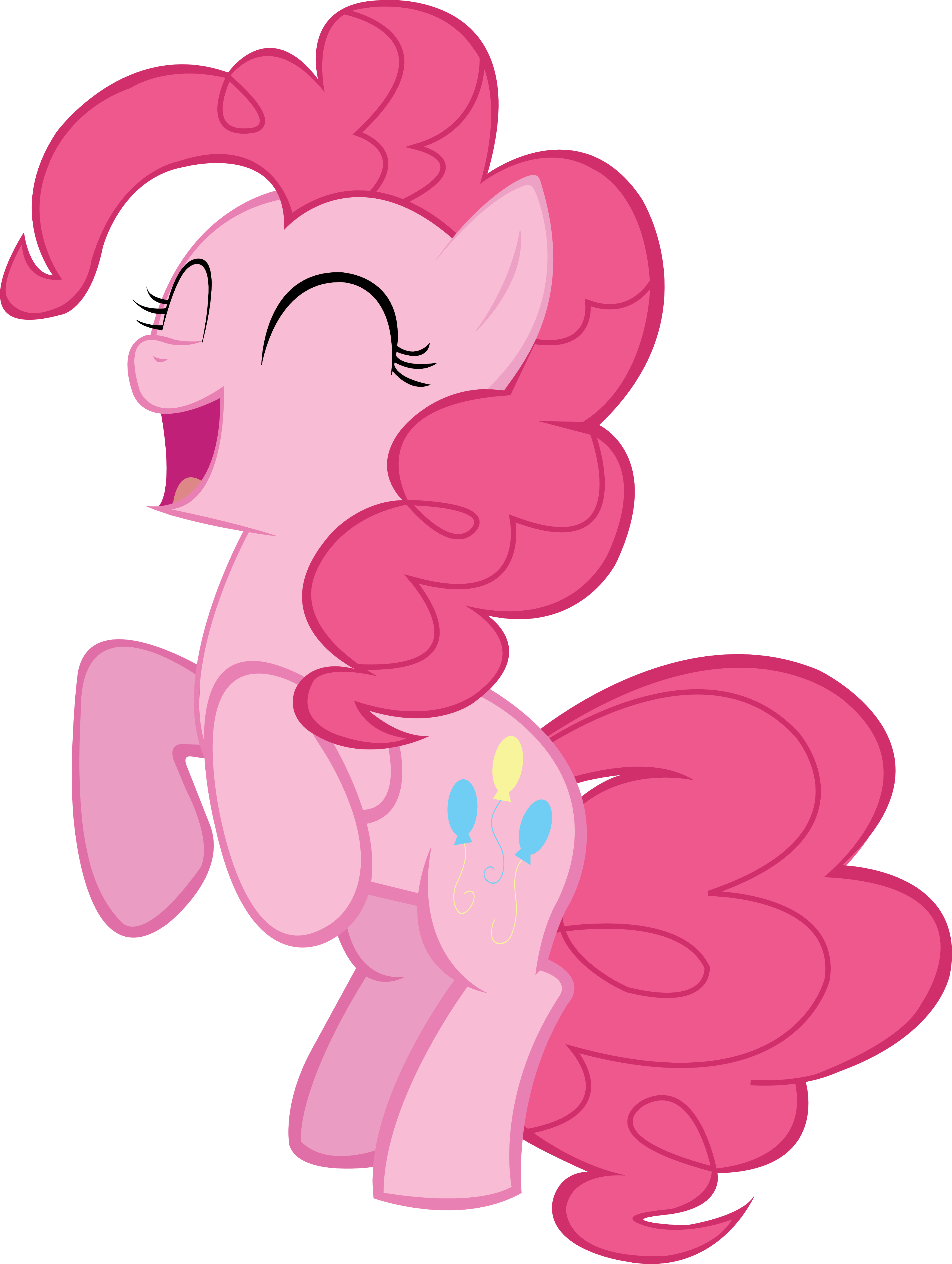 Yelling clipart good deed. Pinkie pie by peachspices