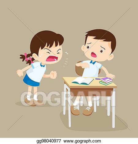 Yelling clipart mad family. Eps vector angry girl
