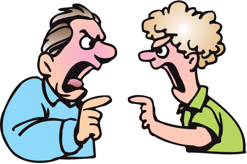 Yelling clipart mean person. A touchy subject hq
