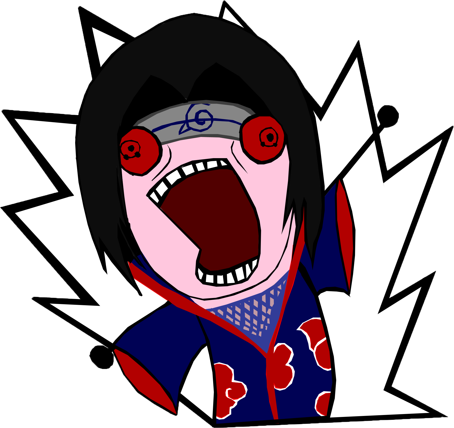 Yelling clipart rage. Itachi kill all the