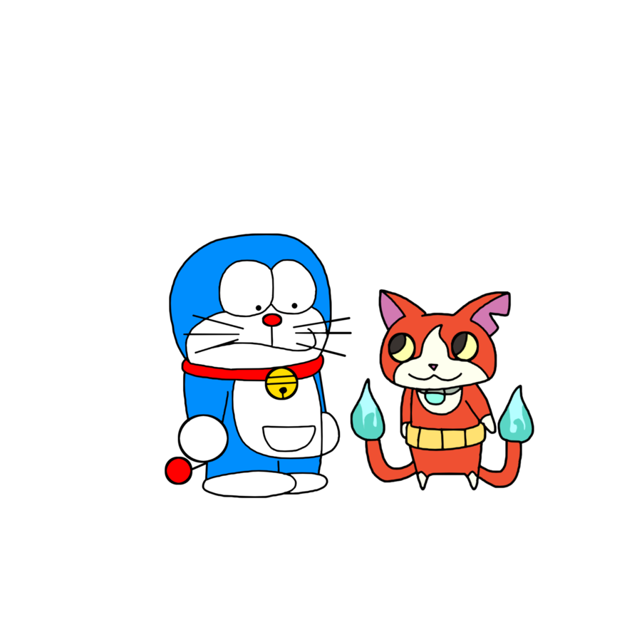Doraemon meets jibanyan by. Yelling clipart scolded