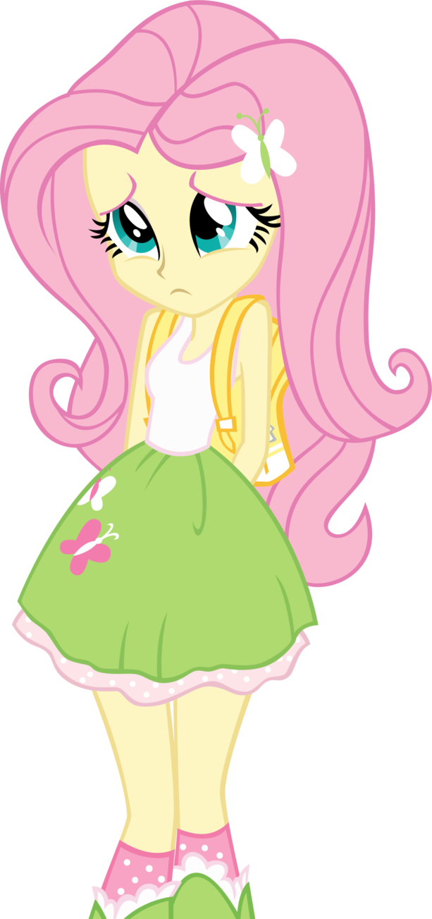 Yelling clipart scolded. Equestria girls fluttershy by