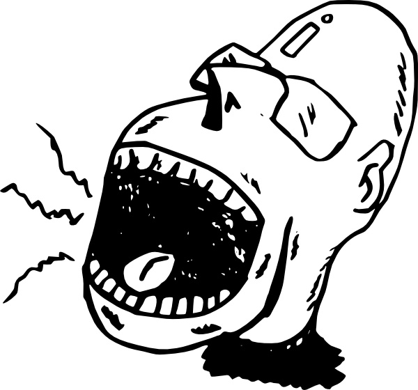 Screaming person clip art. Yelling clipart screamed