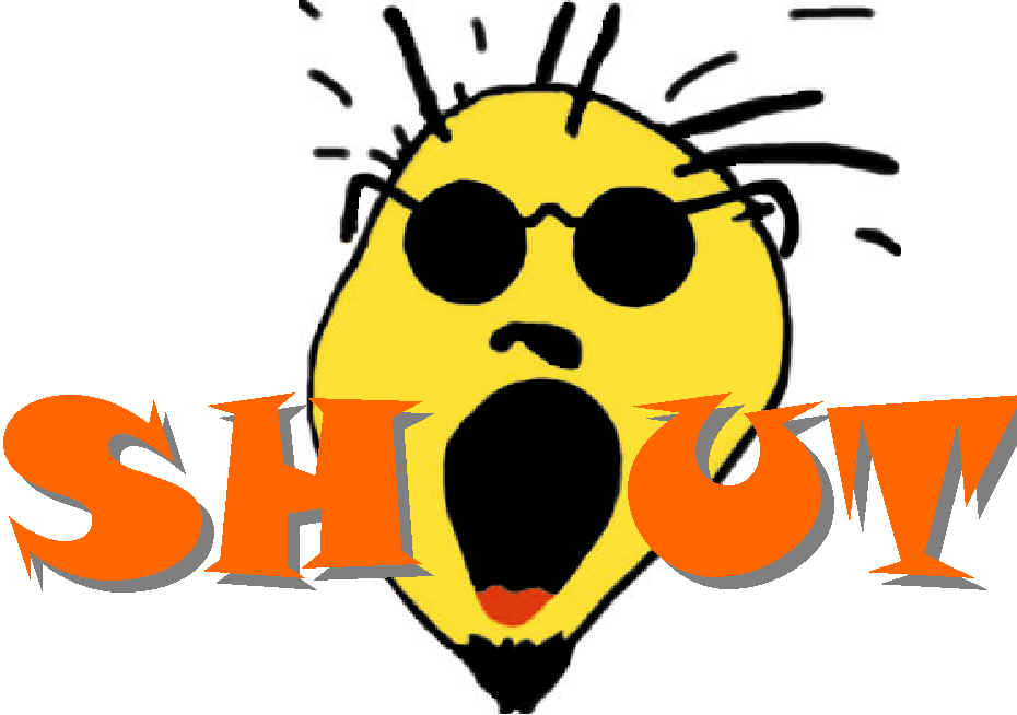 Yelling clipart shout it out. Free cliparts download clip