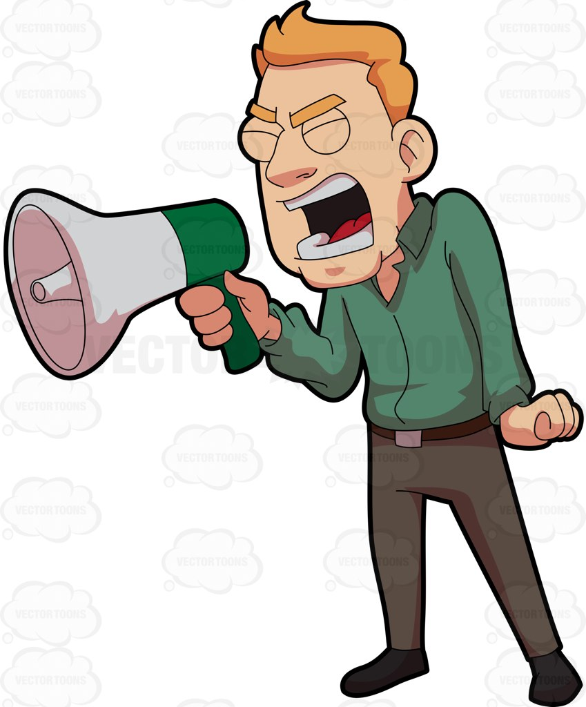 Resolution man shouting screaming. Yelling clipart shouted