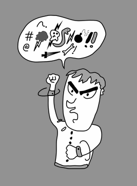 Yelling clipart tone voice. Your of says more