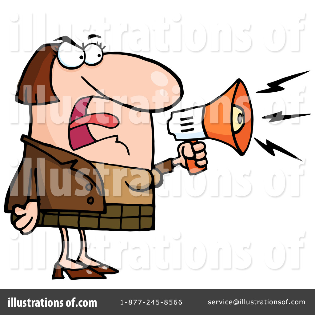Megaphone illustration by hit. Yelling clipart tumultuous
