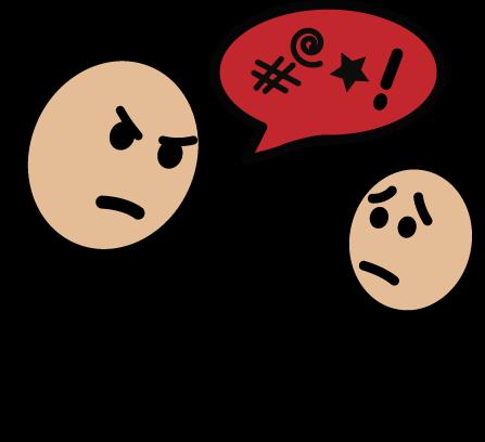 Yelling clipart verbal bullying. Media gallery saba family