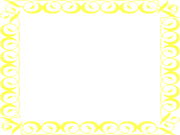 Yellow border png. Frame clip art frames
