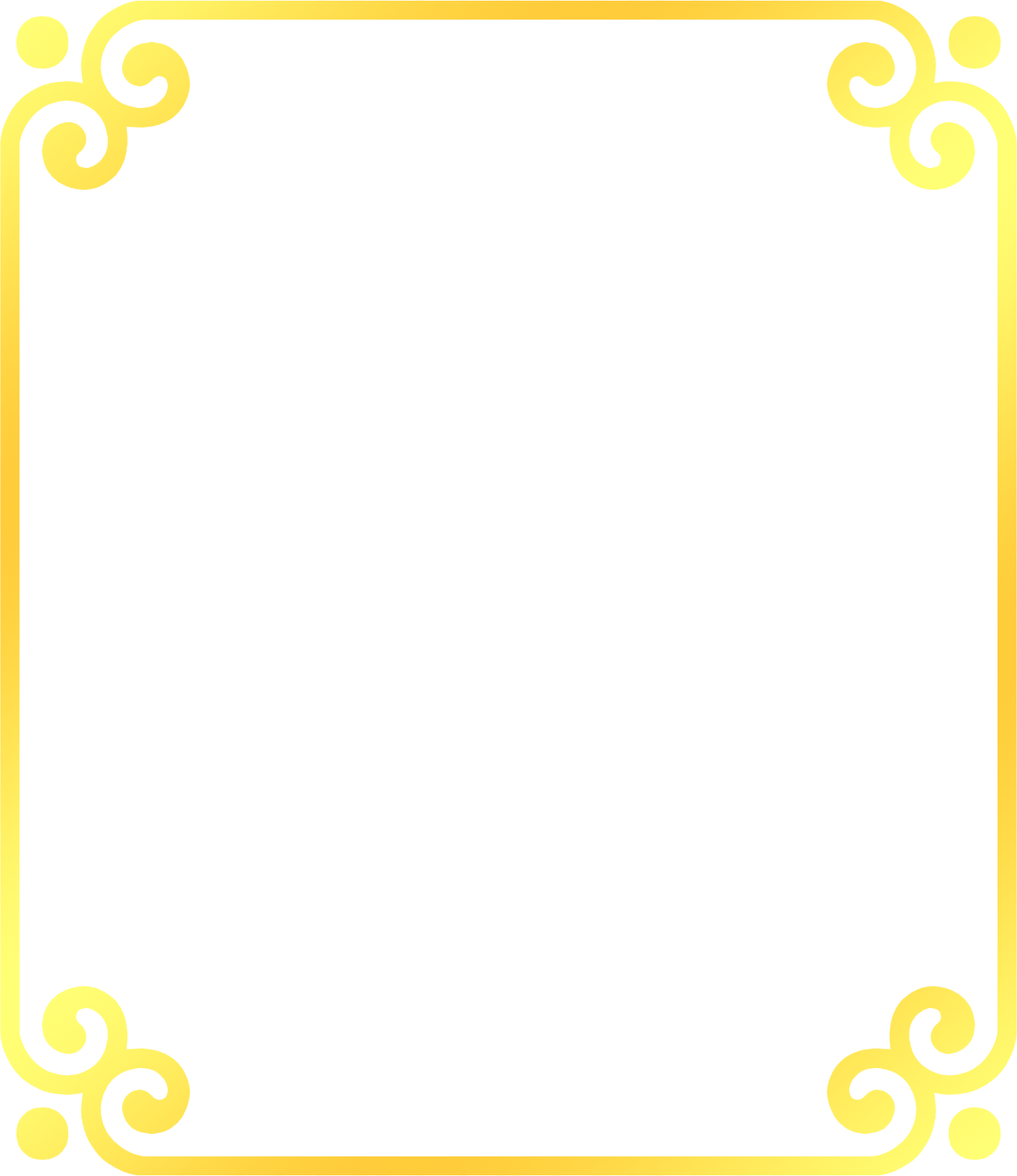 Yellow border png. Area pattern golden frame