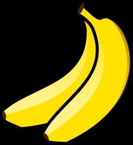 Yellow banana . Bananas clipart double