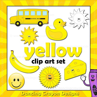 Yellow clipart. Things that are clip