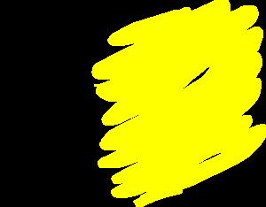 Brush clip art at. Yellow clipart