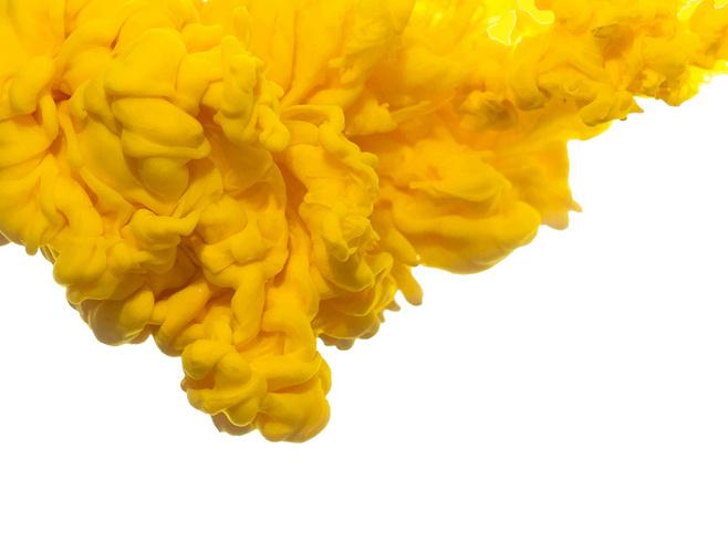 Ink illustration filled transprent. Yellow smoke png