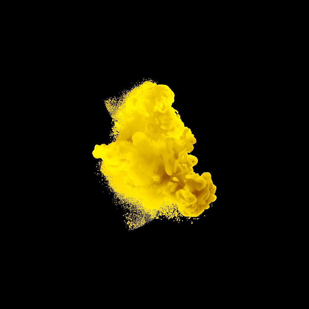 Yellow smoke png. Transparent background arts