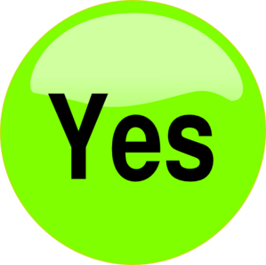 Button . Yes clipart