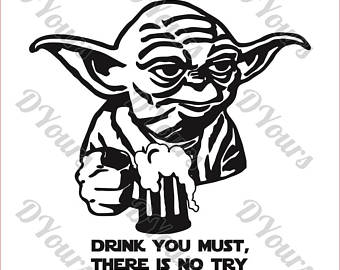 Yoda clipart. Etsy beer drinking star