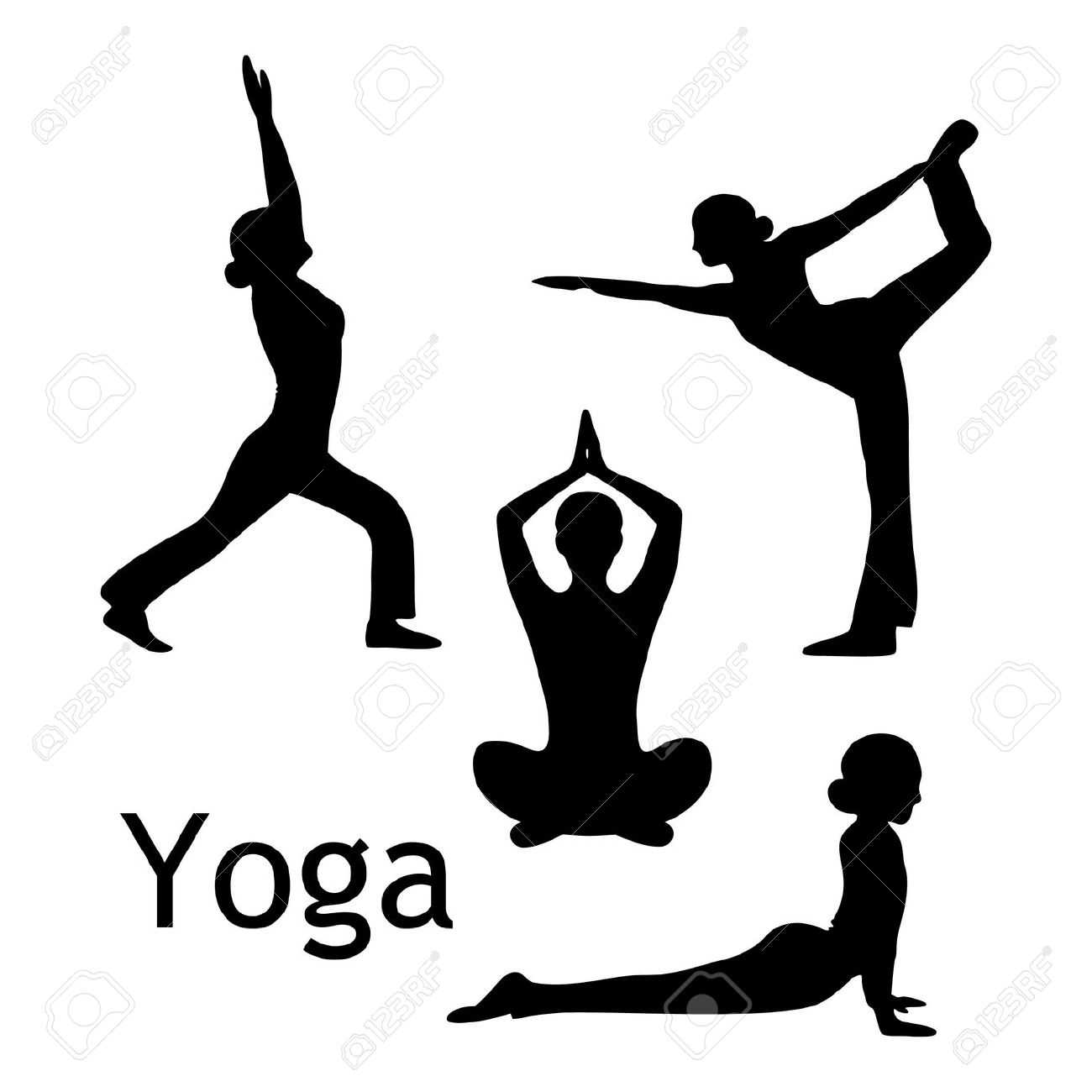 Yoga clipart. Pose
