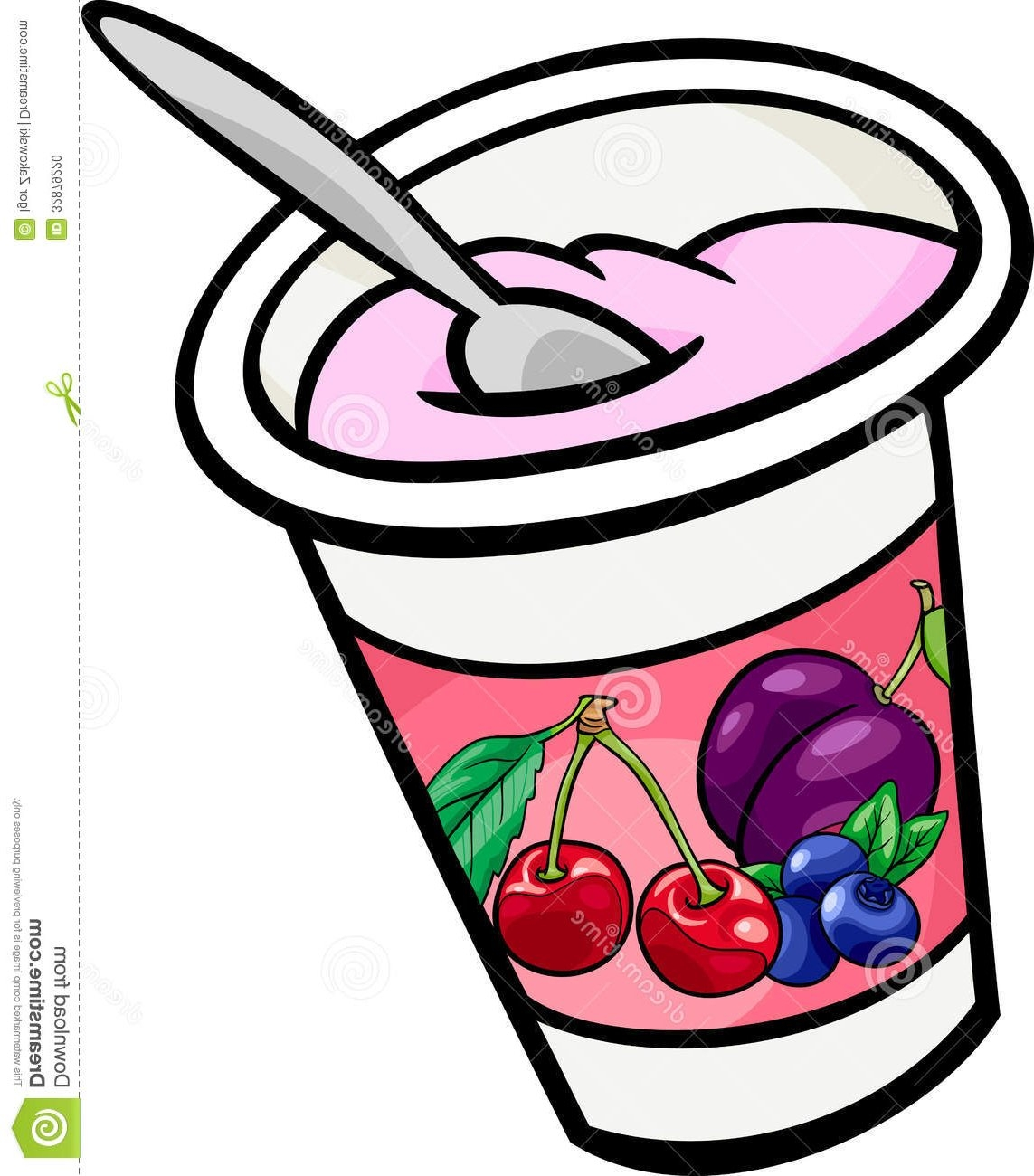 Unique collection digital f. Yogurt clipart