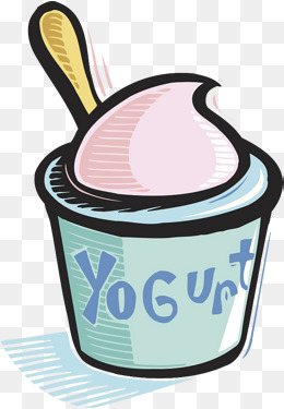 Yogurt clipart. Vector spoon bottle milk