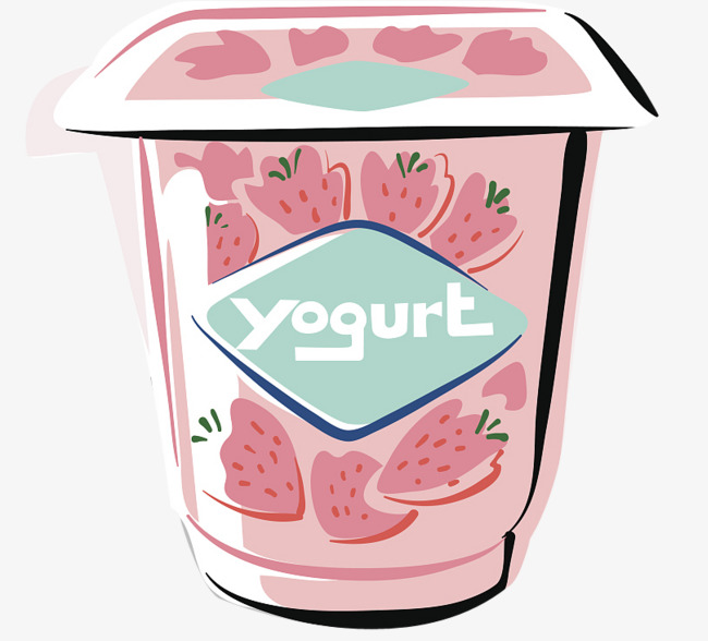 Yogurt clipart. A box of hand