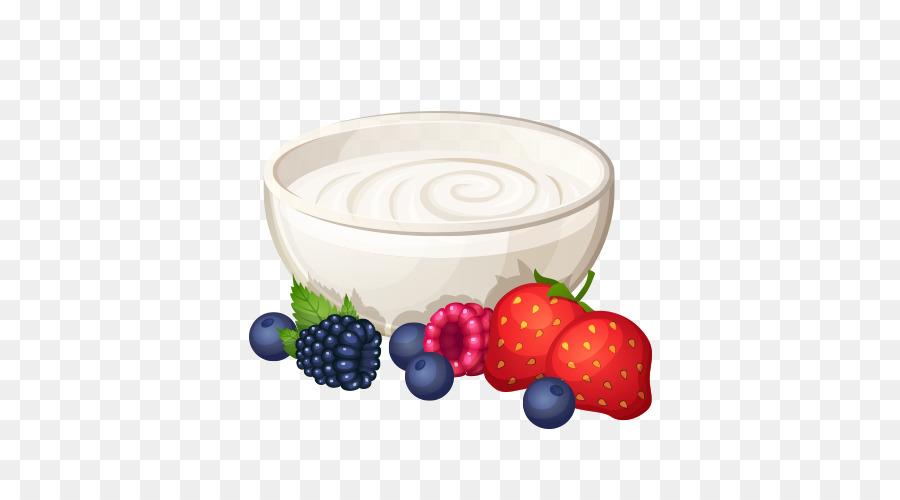 Breakfast cereal pancake food. Yogurt clipart