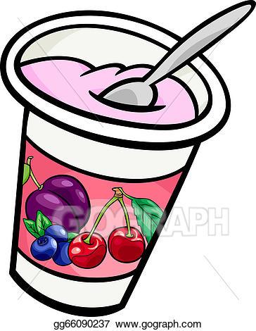 Yogurt clipart animated. Vector clip art cartoon