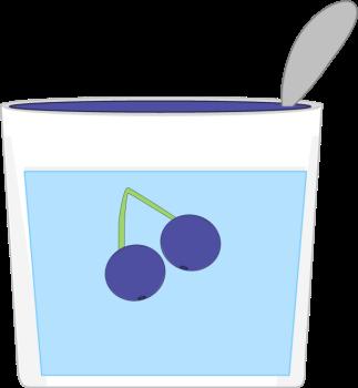 Yogurt clipart blueberry yogurt. Clip art image