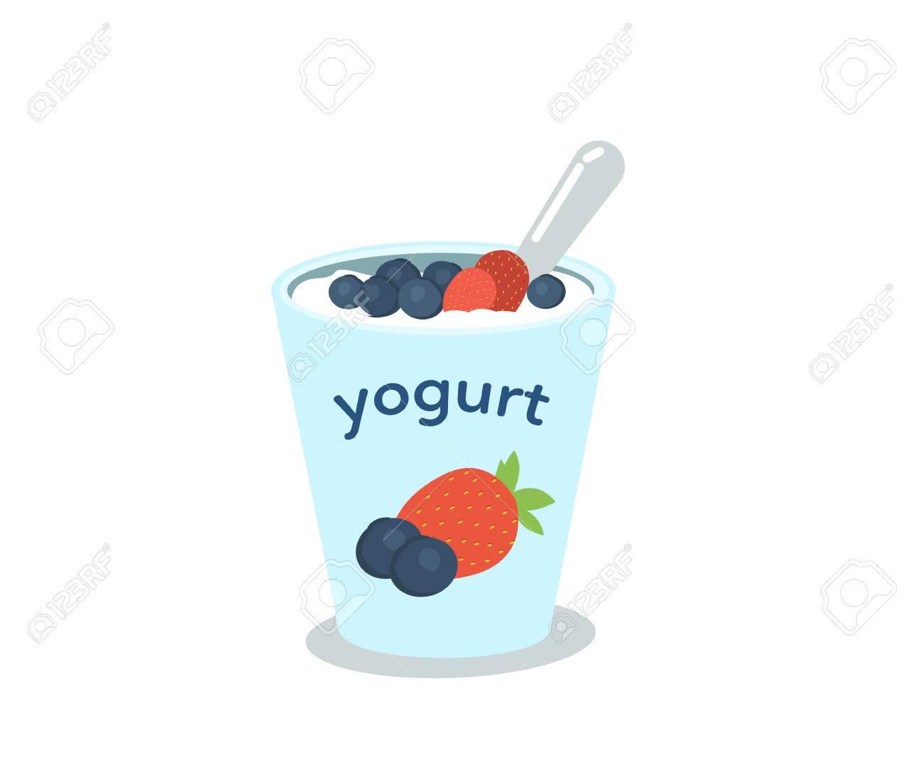 X free clip . Yogurt clipart blueberry yogurt