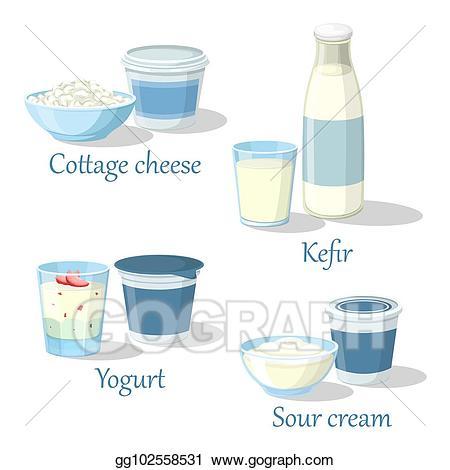 Yogurt clipart calcium food. Eps vector and kefir