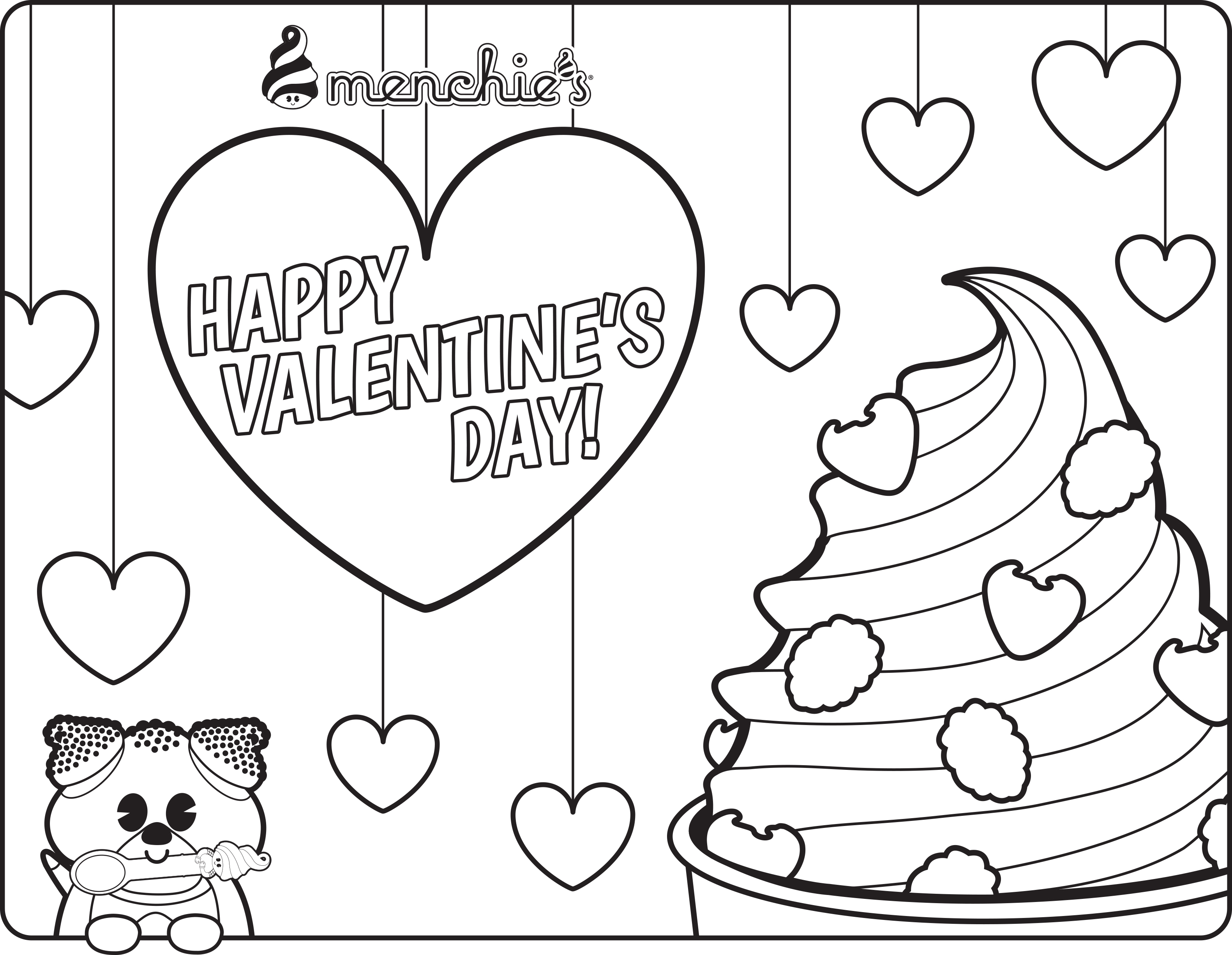 Free frozen coloring pages. Yogurt clipart color