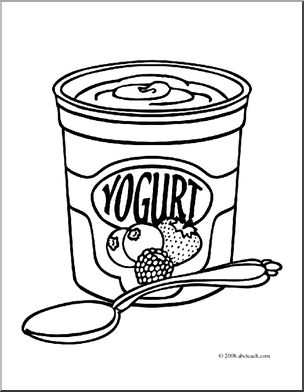 Clip art i abcteach. Yogurt clipart coloring page
