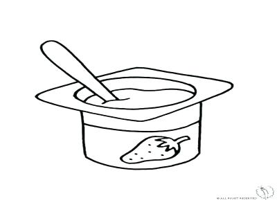 Yogurt clipart colouring page. Menchies coloring pages jumperevents