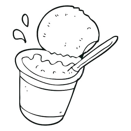 Coloring recause co . Yogurt clipart colouring page