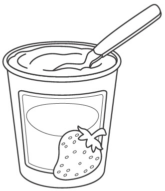 Coloring pages . Yogurt clipart colouring page