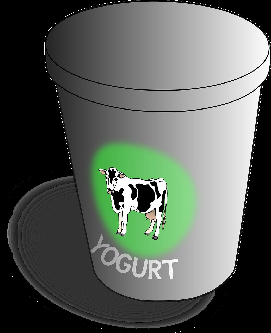 Healing treatment for headache. Yogurt clipart curd