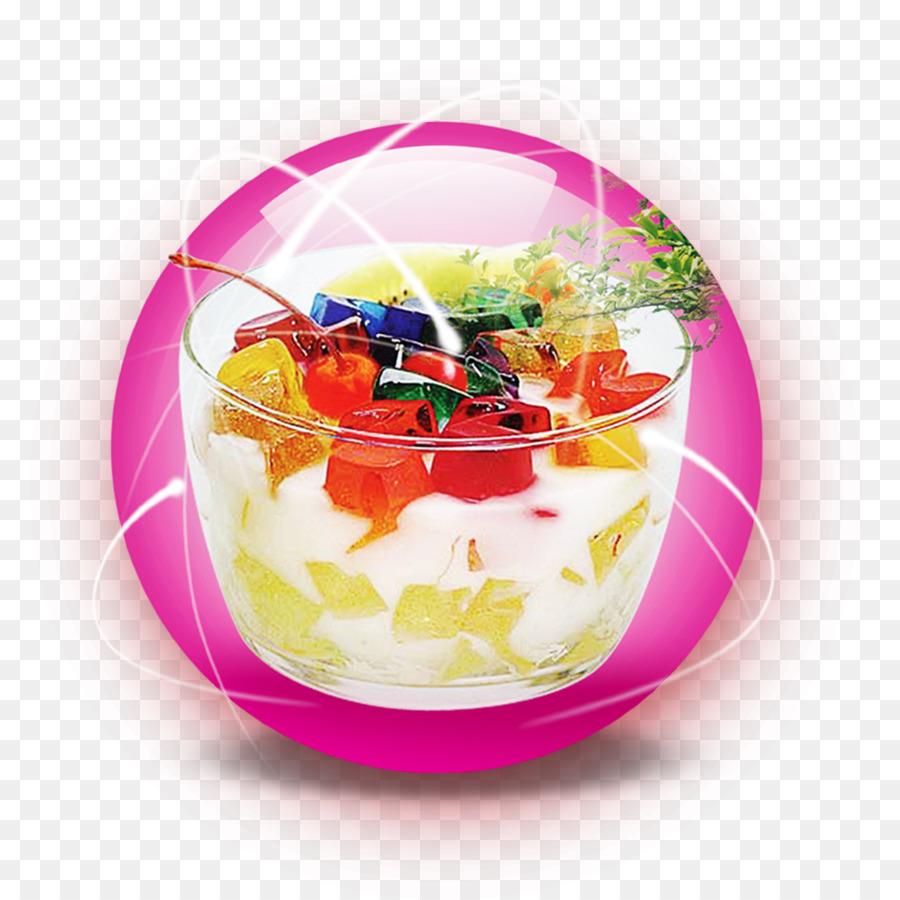 Dessert download salad png. Yogurt clipart gelatin