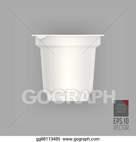 Eps vector isolated stock. Yogurt clipart liquid container