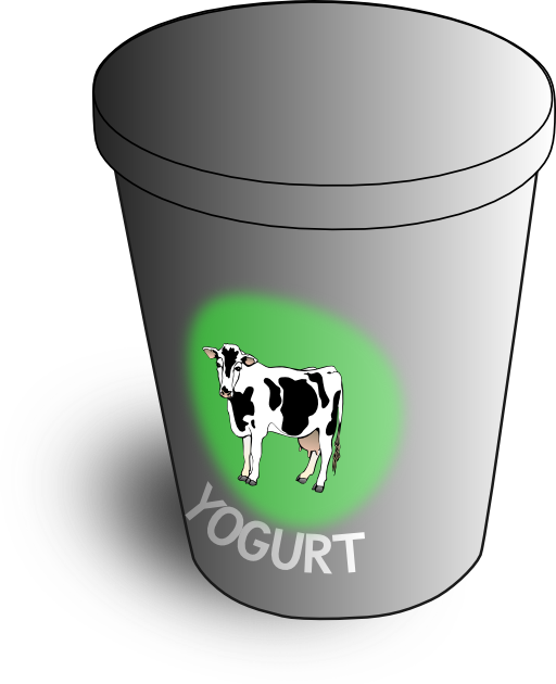 Yogurt clipart outline. I royalty free public