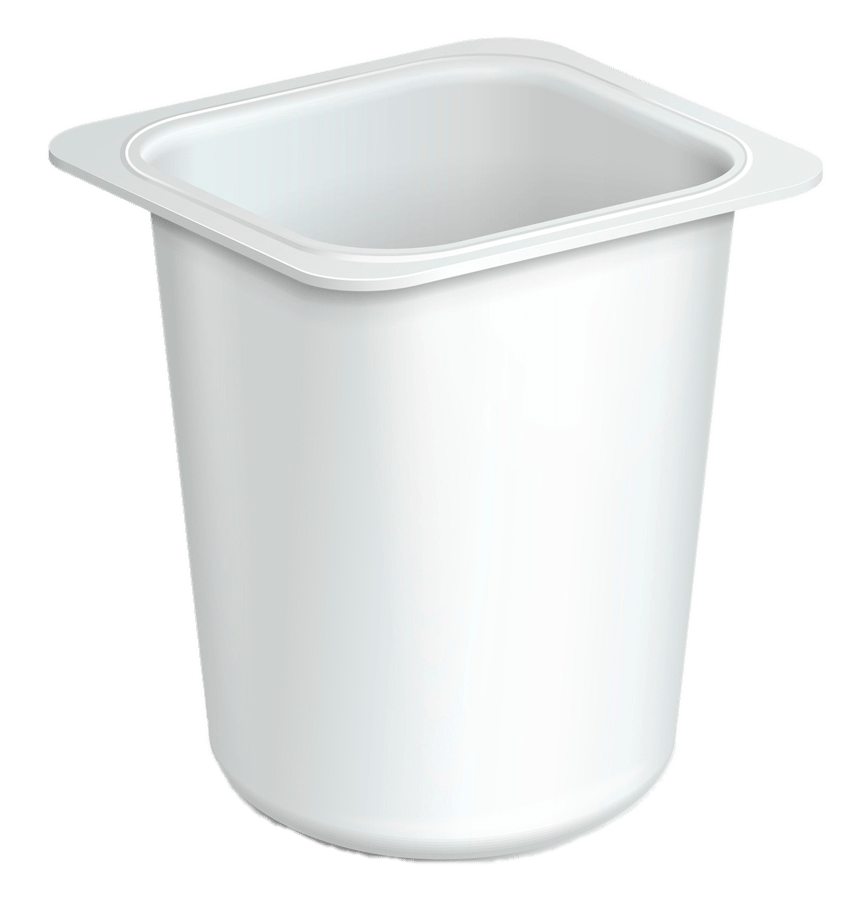 Empty yoghurt cup transparent. Yogurt clipart plastic food container