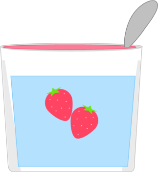 Clip art image . Yogurt clipart strawberry yogurt